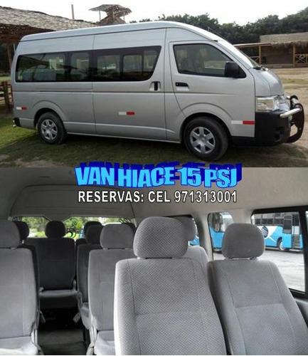alquiler de minivan h1 van 11 y 15 psj custer coaster buses