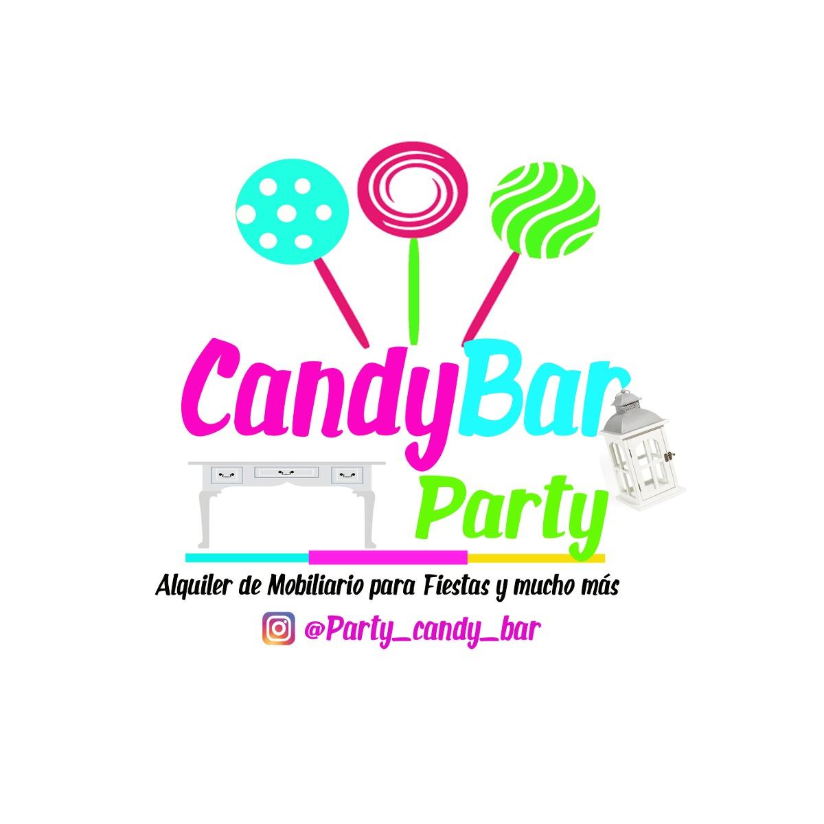 Alquiler de mobiliario para fiestas candy bar en for Mobiliario para bar
