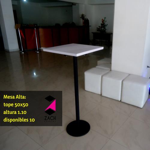 alquiler de mobiliario para stand y expos mesas sillas altas