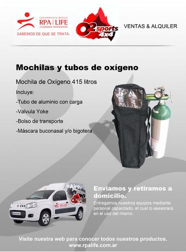 alquiler de mochila de oxígeno portátil /tubo de oxígeno
