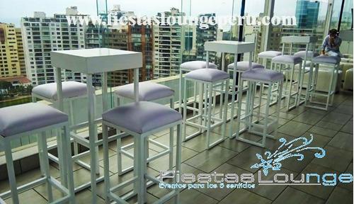 alquiler de muebles parihuelas pallets, barra