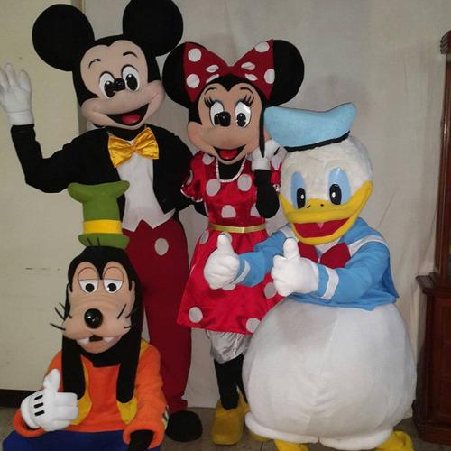 alquiler de muñecotes de mickey, frozen, coco y la sirenita