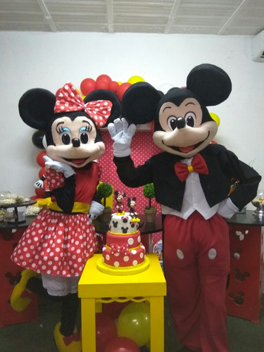 alquiler de muñecotes  mickey y minnie fiestas infantiles
