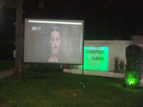 alquiler de pantalla gigante 3.00 x 2.25 -proyector y sonido