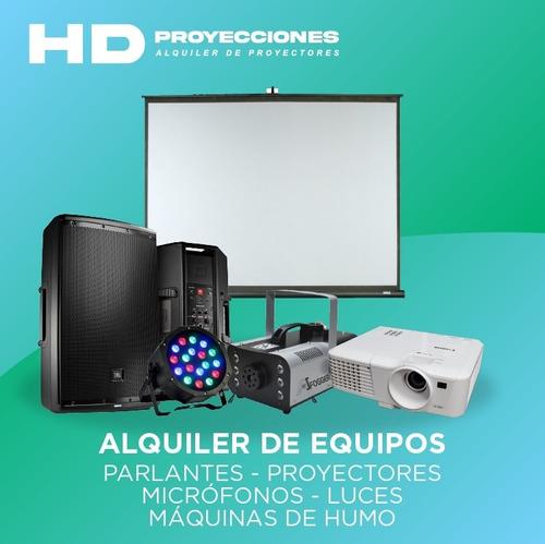alquiler de pantalla gigante - proyectores - parlantes