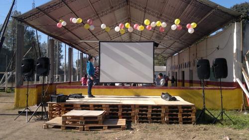 alquiler de pantalla gigante y proyector
