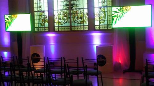 alquiler de pantallas gigantes proyectores lcd led karaoke