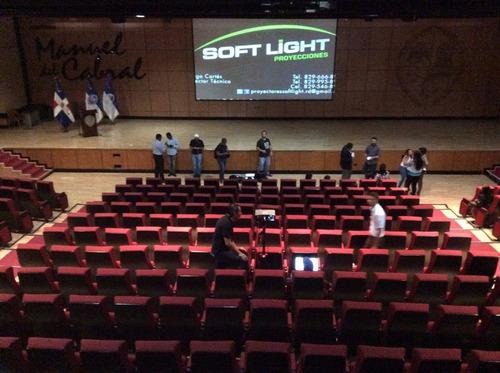 alquiler de pantallas, proyectores, podium y sonido