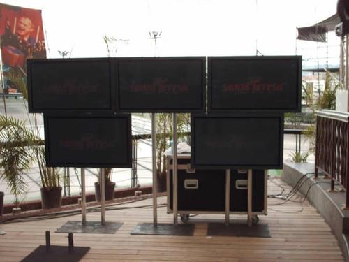 alquiler  de pantallas tv 42  discplay dj,vj y karaoke