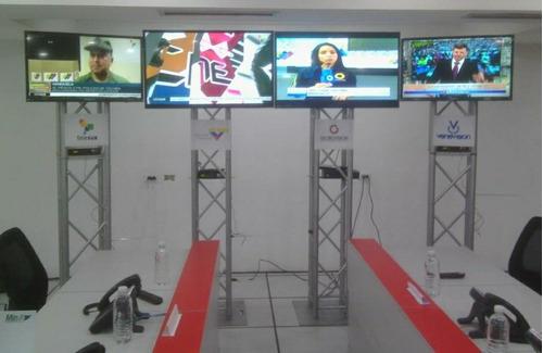 alquiler de pantallas tv truss iluminación