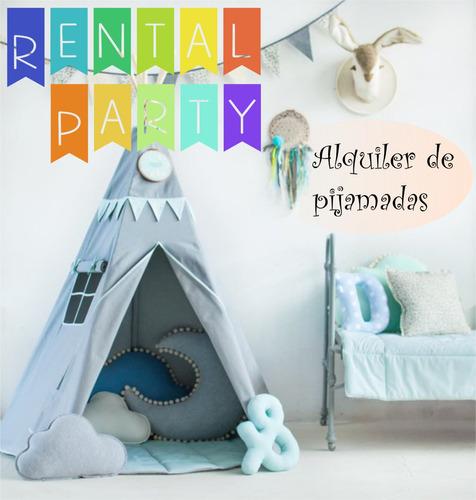 alquiler de pijamadas cumpleaños pijama party carpas tipi