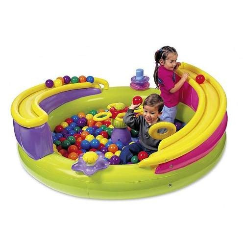alquiler de piscina de pelotas y colchón inflable combos!!!
