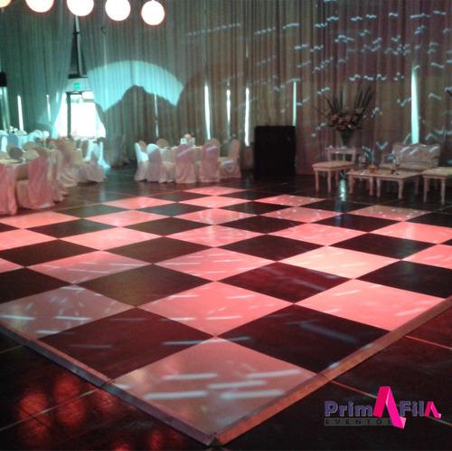 alquiler de pista de baile damero, envios zonal s/c $299/m2