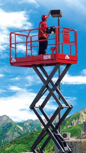 alquiler de plataforma elevadora tijera y brazo articulado