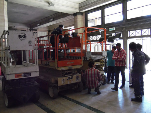 alquiler de plataformas elevadoras tipo tijeras 153-661-1624