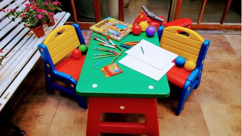 alquiler de plaza blanda, mesa didáctica, metegol,eventos