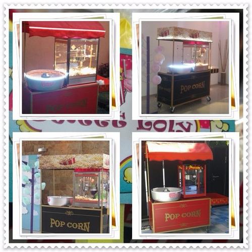 alquiler de pochoclera y máquina de copos de azucar