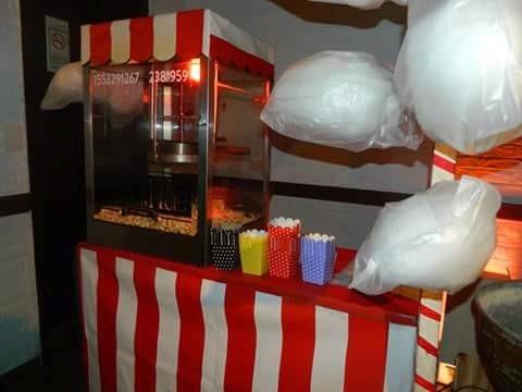 alquiler de pochoclos y copos de azucar