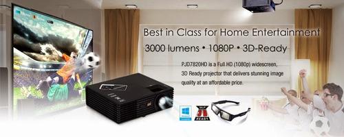 alquiler de proyector full hd 3d ready y pantalla gigante