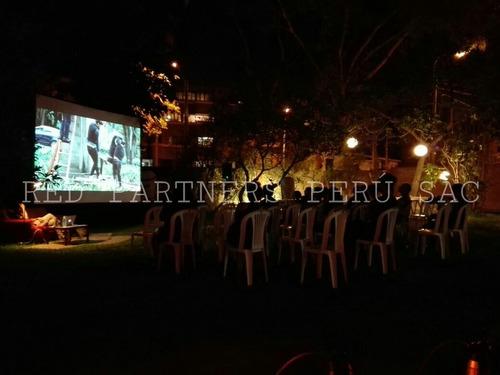 alquiler de proyector multimedia + ecran + parlantes y tv´s