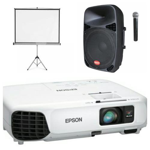 alquiler de proyector multimedia + ecran + sonido - trujillo