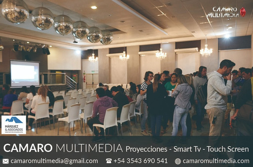 alquiler de proyector, pantallas led, smart tv, touch screen