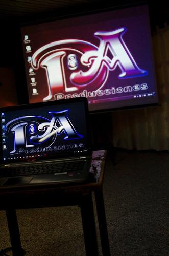 alquiler de proyector profesional y pantalla gigante de 120