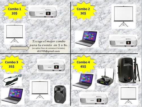 alquiler de proyector (video beam) por día