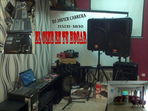 alquiler de proyector y pantalla + cañon + dj + sonido