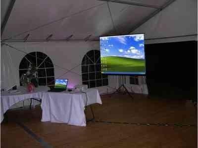 alquiler de proyectores y pantallas,  120 pulgadas/100pulg.