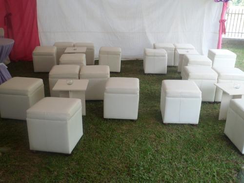 alquiler de puff cubo blancos y negros  zona lounge