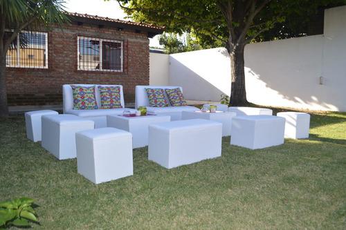 alquiler de puff para eventos, mesas, sillones.equipamientos