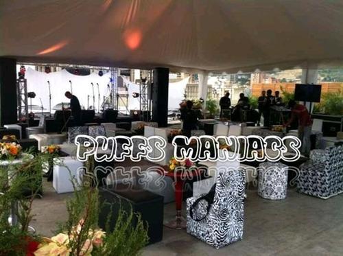 alquiler de puffs peras y areas lounge