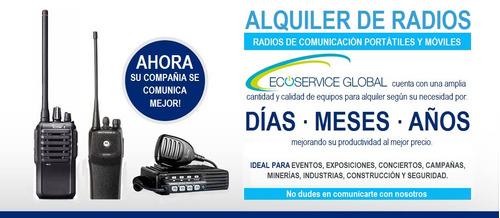 alquiler de radios motorola ep450s