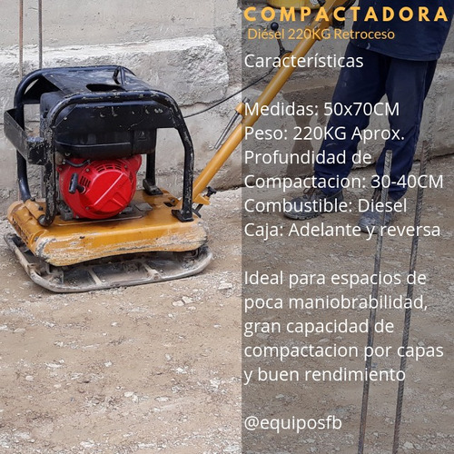 alquiler de ranas compactadoras equipos fb