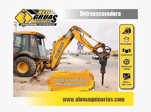 alquiler de retroexcavadora, excavadoras y miniexcavadoras