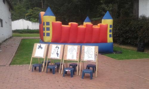 alquiler de saltarin inflable y pinturas para niños $ 60.00