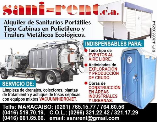 alquiler de sanitarios y baños portatiles y ecologicos