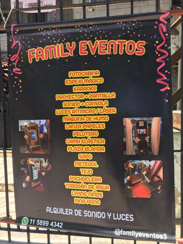 alquiler de servicios de entretenimientos para eventos