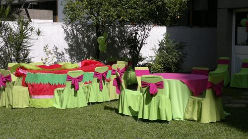 alquiler de sillas, mesas, mesones, toldos,inflables y mas.
