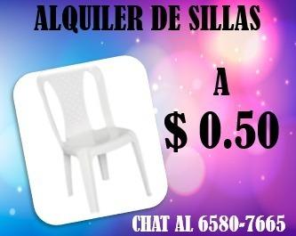 alquiler de sillas plasticas para eventos