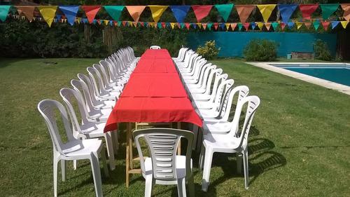alquiler de sillas plasticas y mesas para eventos!!!