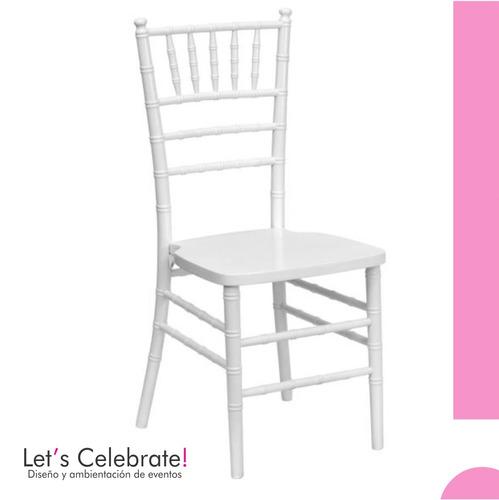 alquiler de sillas tiffany - ambientación de eventos