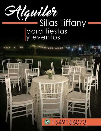 alquiler de sillas tiffany blancas