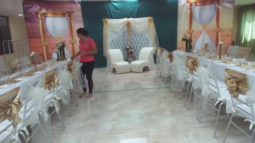 alquiler de sillas tiffany, mesas, muebles y decoraciones