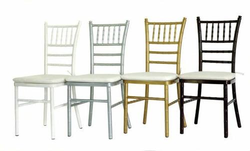 alquiler de sillas tiffany,mesas y manteles