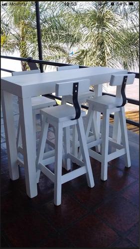 alquiler de sillas y mesas altas y living para eventos
