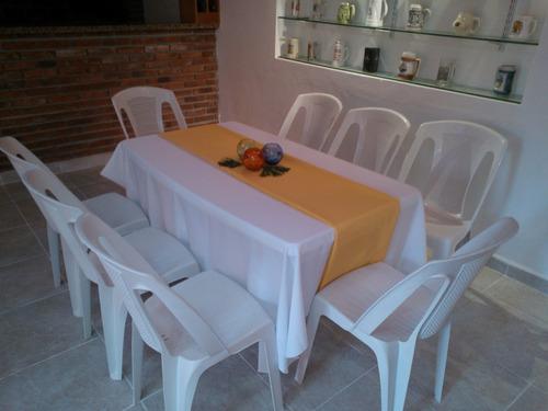 alquiler de sillas y mesas de pvc, vajilla, manteles, living