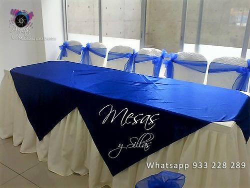 alquiler de sillas y mesas plásticas para eventos