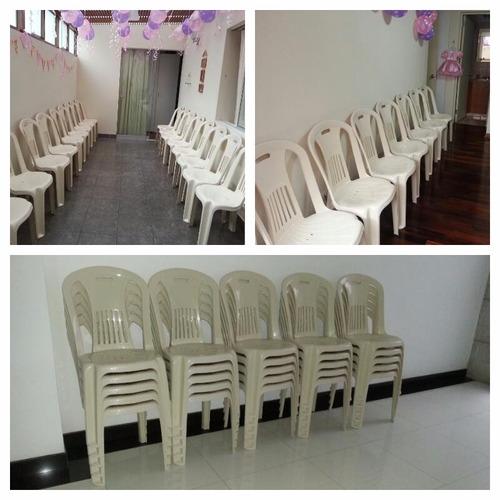 alquiler de sillas y mesas plásticas vestidas en surquillo
